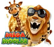 mega moolah lejon med solgralsögon och giraff