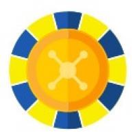 animerat roulettehjul i gult och blått